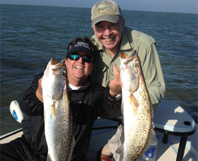 Enjoy a day of fishing for spotted trout in Florida's Gulf Coast