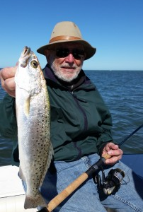 Peter with a top slot Trout!