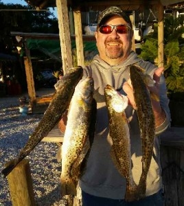 Brian with his limit of Spotted Sea Trout!