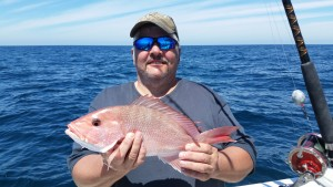 Paul with a beautiful Red Snapper!