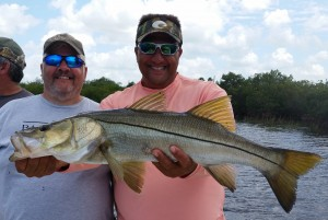 """Paul with a beautiful 32"""" Snook!!!"""