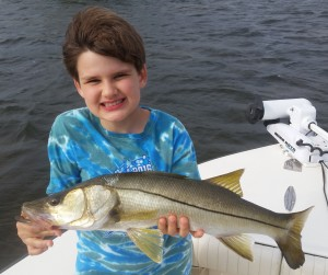 Danny got his first Snook after his dads!